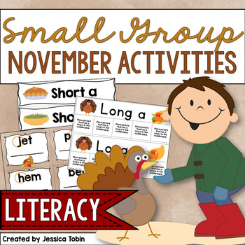 Small Group Activities for November- Early Literacy