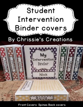 Special Education student binder: Intervention Binder for RTI