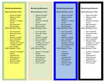 Intervention Bookmark: Before, During, After Reading Strategies (pdf)