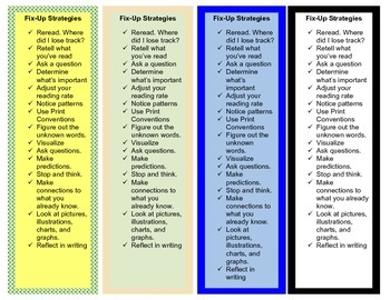 Intervention Bookmark: Fix-up Strategies (pdf)