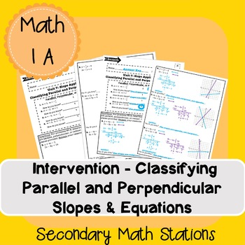 Intervention - Classifying Parallel, Perpendicular, or Neither Equations