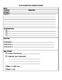 Intervention Data Collection Sheet