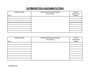 Intervention Documentation