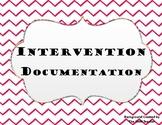 Intervention Documentation Forms