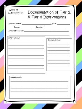 Intervention Forms