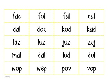 Intervention / Guided Reading Word Work: Nonsense Word Fluency