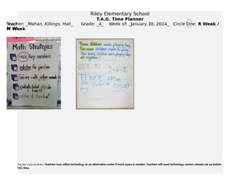 Intervention Lesson Plans for Math/Reading