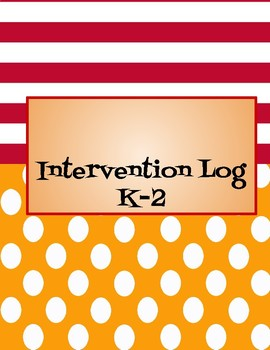 Intervention Log Binder