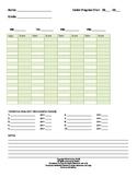 Intervention Log:  Keep Track of Progress Monitoring Score