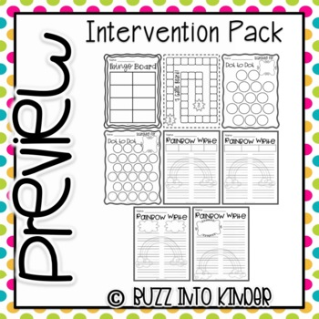Intervention Packet- For Letters and Sight Words