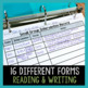 Intervention Planning & Recording Forms for Small Group Reading