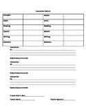 Intervention Referral Sheet