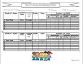 Intervention Resource Chart:  Attendance Chart for Multiple Intervention Groups