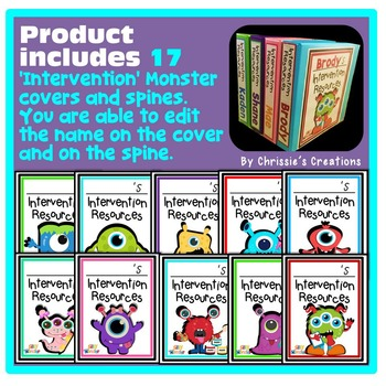 Intervention Resources Binder Covers: Editable