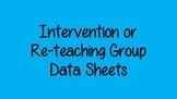 Intervention/Reteaching Group Data Sheet