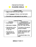 Intervention Scholar Reading Goals