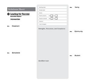 Intervention Solution Sheet