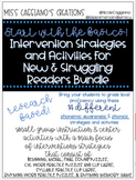 Intervention Strategies  and Activities For  New & Struggling Readers Bundle