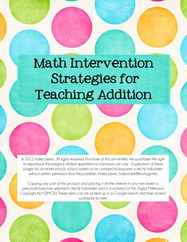 Intervention Strategies for Teaching Addition