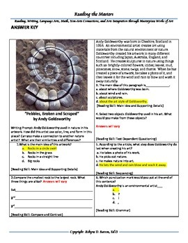 """Intervention & Test Prep With """"Pebbles, Broken and Scraped"""" by Andy Goldsworthy"""
