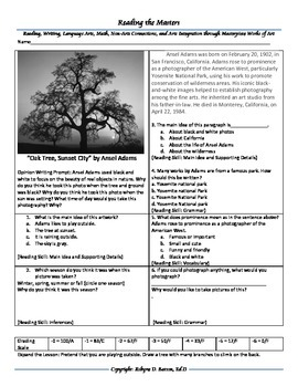 "Intervention & Test Prep with ""Oak Tree, Sunset City"" by Ansel Adams"