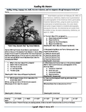 """Intervention & Test Prep with """"Oak Tree, Sunset City"""" by Ansel Adams"""