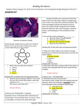 """Intervention & Test Prep with """"Petunias"""" by Georgia O'Keeffe"""