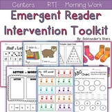 Intervention ToolKit: Early Literacy Concepts (RTI, Centers)