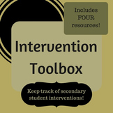 Intervention Toolbox - Log student tutoring sessions and detentions!