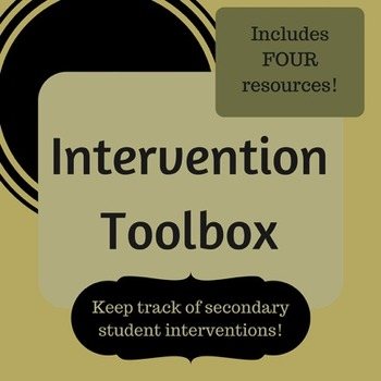 Intervention Toolbox - Log student tutoring sessions and d