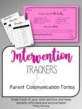 Intervention Tracker and Communication FREEBIE