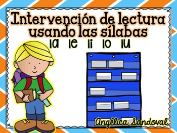 Intervention Word Work with Syllables LA LE LI LO LU