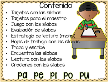 Intervention Word Work with Syllables PA PE PI PO PU Intervención