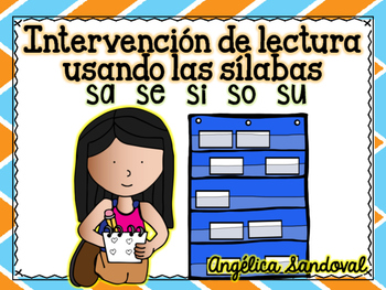 Intervention Word Work with Syllables SA SE SI SO SU