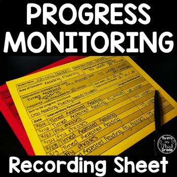 Intervention And Progress Monitoring Recording Sheet