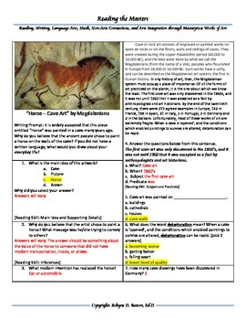 Intervention and Test Prep - Cave Art Horse