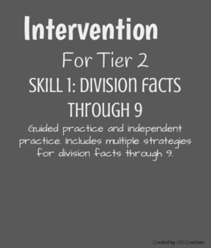 Intervention for Division Facts through 9