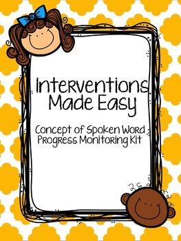 Interventions Made Easy: Concept of Spoken Word Progress Monitoring Kit
