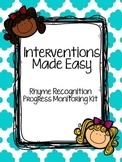 Interventions Made Easy: Rhyme Recognition Progress Monitoring Kit