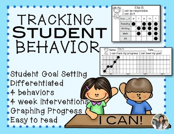 Interventions RTI Classroom Behaviors Student Chart & Graphing