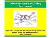 Interventions Recording Document