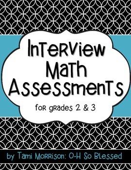 Interview Math Assessments {3rd grade}