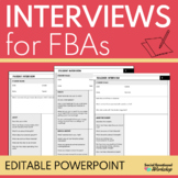 Editable Interview Forms for Functional Behavior Assessments