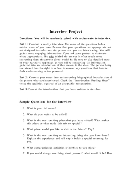 Interview Icebreaker Activity