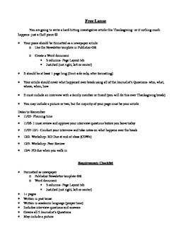 Interview & News Article Writing Assignment