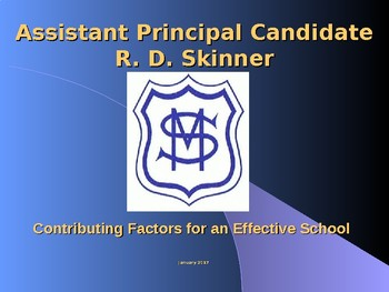 Interview Presentation Assistant Principal Deputy Head Teacher