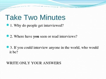 Interview Project Powerpoint with Speech Blemishes