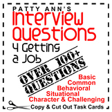 Career Interview Questions 4 Getting a JOB! 100+ Copy & Cu