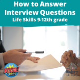 How to Answer Interview Questions ~ Boom Cards ~ Grades 9-12
