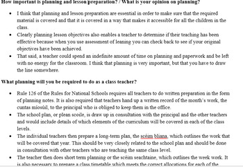 Interview Questions and Sample Answers for Primary ...